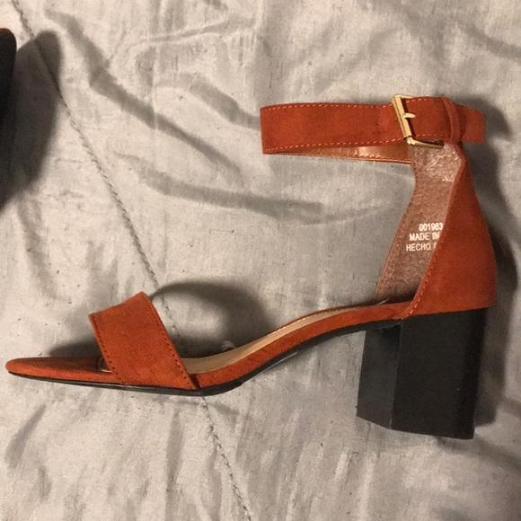 420c78795a9 Orange velvet heels